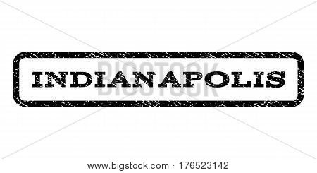 Indianapolis watermark stamp. Text tag inside rounded rectangle frame with grunge design style. Rubber seal stamp with dirty texture. Vector black ink imprint on a white background.