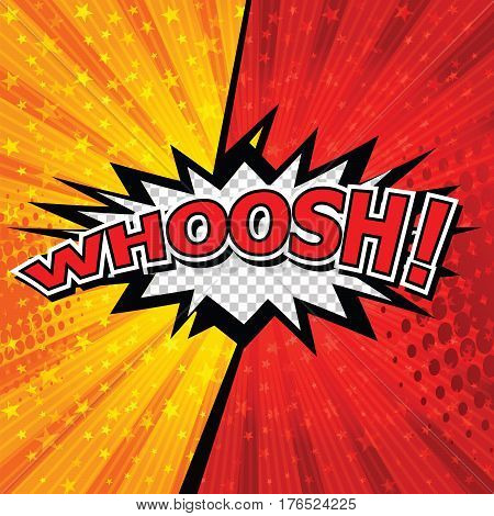 WHOOSH! Comic Speech Bubble, Cartoon. art and illustration vector file.