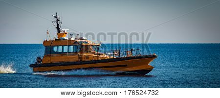 Yellow Pilot Ship