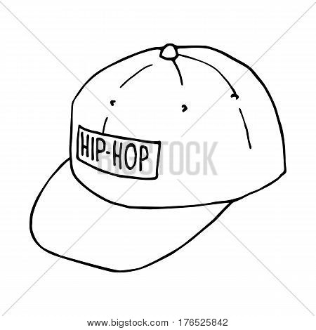 Sketch baseball caps. Hip-hop headwear. Vector isolated image. The concept of street art. It can be used as prints, posters, printed materials, videos, mobile apps, web sites and print projects.