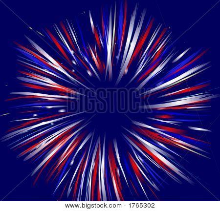 Firework On Blue Background