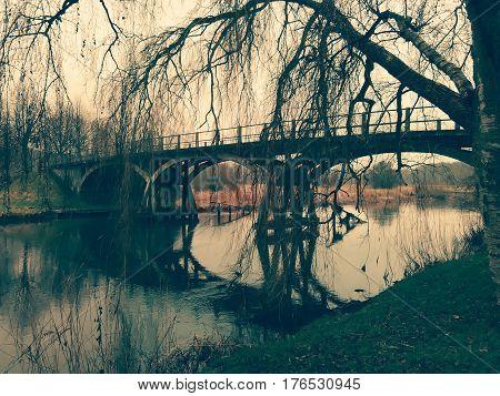 The old Danish bridge. Shot in Denmark