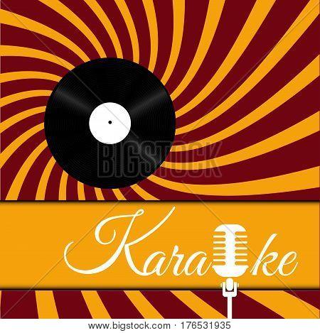 Karaoke Microphone  Vinill Design Abstract Banner Vector Eps 10