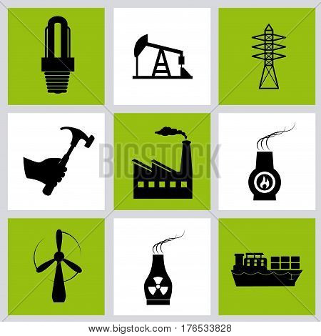 Energy design over gray background, vector illustration