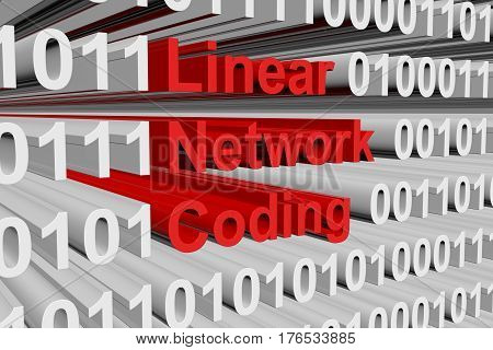linear network coding as binary code, 3D illustration