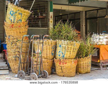 Vegetables market or Pak Khlong Talat market. Bangkok, Thailand