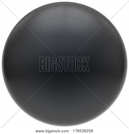 Black sphere round button matted ball basic circle geometric shape solid figure 3D