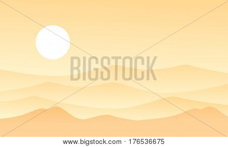 Beauty landscape of desert vector flat collection stock