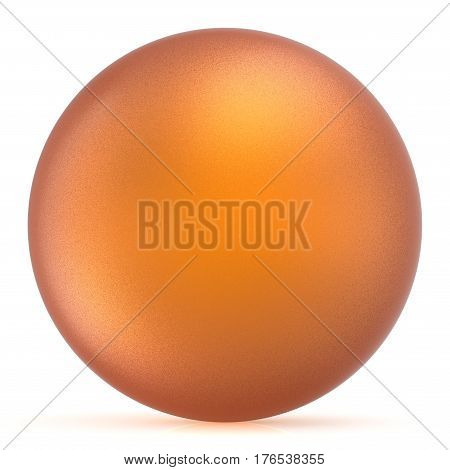 Orange sphere round button ball basic matted yellow circle geometric shape solid figure 3D