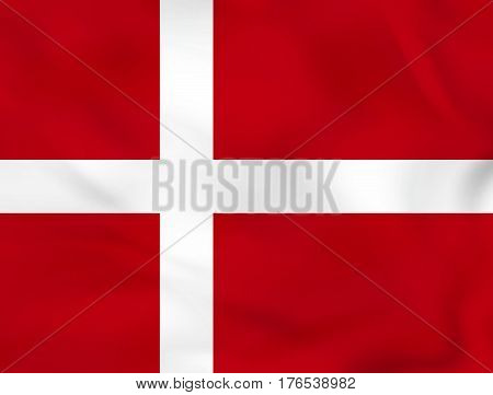Denmark Waving Flag. Denmark National Flag Background Texture.