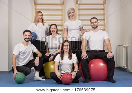 Large Group People, Physiotherapists Chiropractors