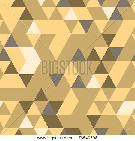 Khaki seamless pattern with triangular digital protection ornament