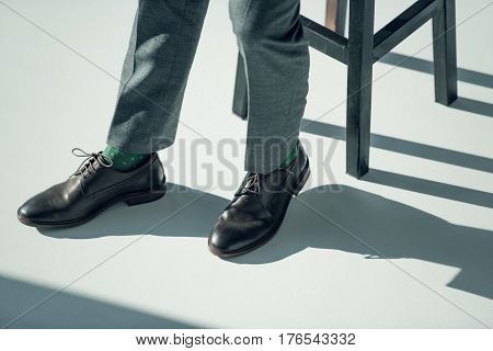Man In Stylish Shoes