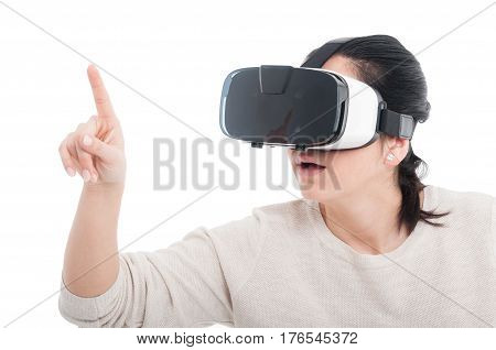 Female Getting Experience Using Vr Headset