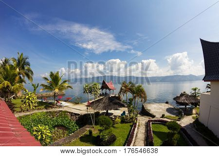 Samosir island on Lake Toba, North Sumatra, Indonesia