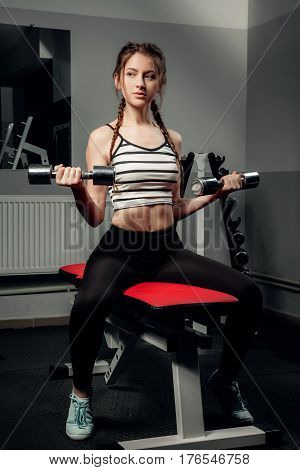 The Girl In The Gym Concept Workout Healthy Lifestyle Sport