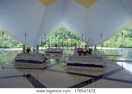 Kuala Lumpur Malaysia - November 2 2014: Mausoleum of national heroes of Malaysia at the Masjid Negara in Kuala lumpur