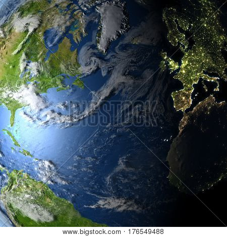 Northern Hemisphere On Planet Earth