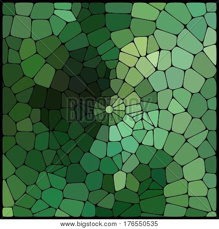 Abstract Mosaic Pattern Consisting Of Green Geometric Elements Of Different Sizes And Colors. Vector