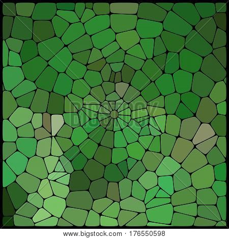 Abstract Mosaic Pattern Consisting Of Green, Gray Geometric Elements Of Different Sizes And Colors.