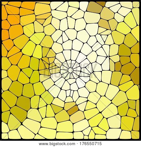 Abstract Geometrical Multicolored Background Consisting Of Yellow Geometric Elements Arranged On A B