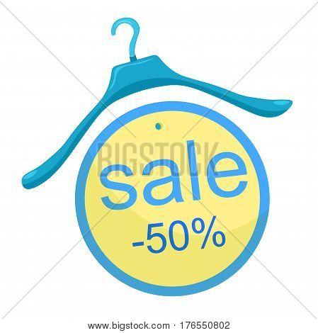 coat hanger the  a close. vector illustration