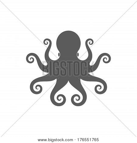 Isolated octopus on white background. (EPS 10)
