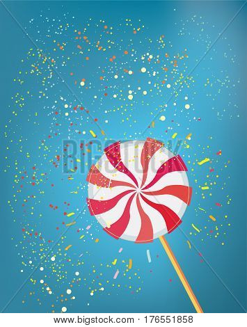Lolly pop funny background - vector graphic illustration