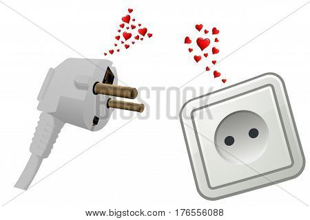 Love at first sight, a peg and plug fall in love