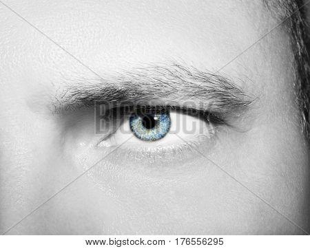 Image Of A Beautiful Insightful Look Human Eye