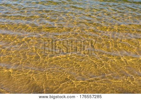 Motion of water on a summer river Dnepr in Ukraine