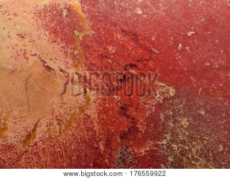 Close Up Of Red Stone As Background