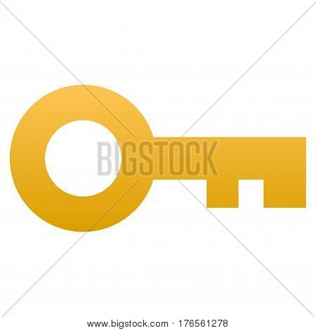 Key vector icon. Flat symbol with gradient. Pictogram is isolated on a white background. Designed for web and software interfaces.