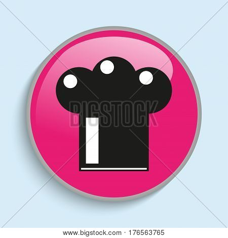 Headgear cooks. Vector icon. Vector image in multiple colors.
