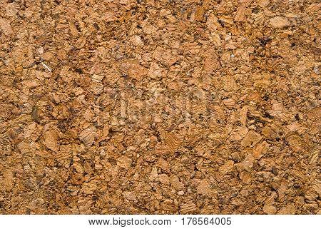 Close up of cork wood sheet texture