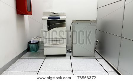 Photocopier machines and background all in one