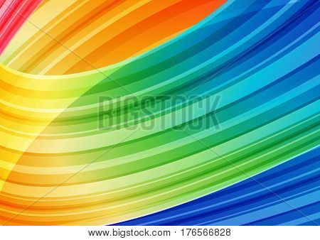 Abstract multicolored bright cover background, striped curves
