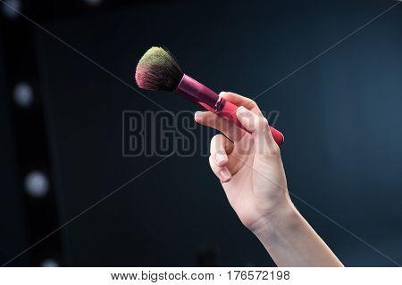 Make-up Brush In Hand