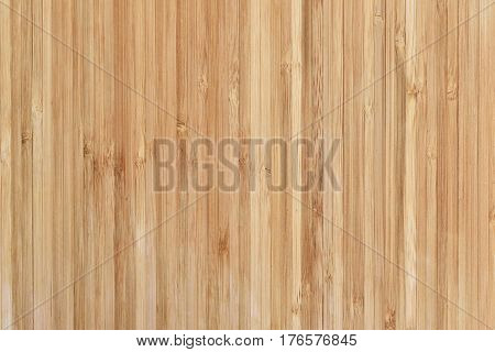Bamboo cutting board or wooden texture with copy space. High angle view.