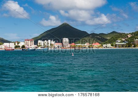 Resorts on St Maarten from the Sea