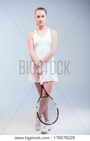Female Tennis Player With Racquet