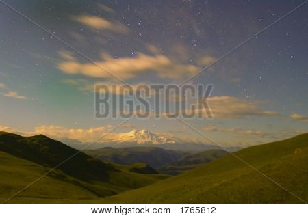 Elbrus Under Light Of Thousand