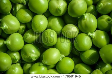 Green Peas Background Texture Vegetable. Fresh   Backgr