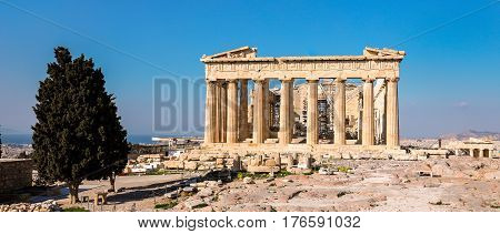 Parthenon Temple, Acropolis In Athens, Greece.