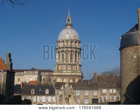Basilica of Notre Dame in the Old Town of Boulogne. Pas de Calais region of France.
