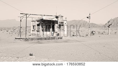 In Iran Old Gas Station