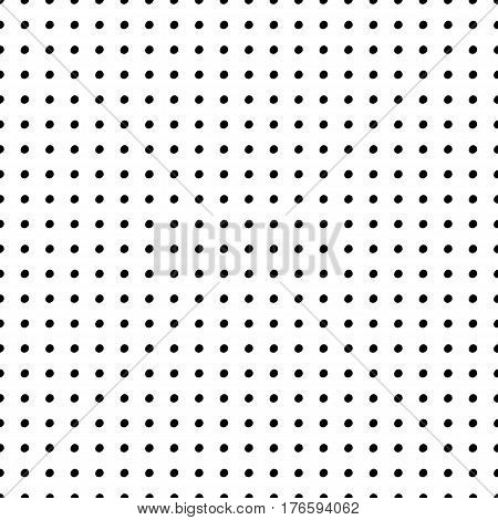Abstract polka dot pattern with trendy dots. Cute vector black and white polka dot pattern. Trendy monochrome polka dot pattern for fabric, wallpapers, wrapping paper, cards and web backgrounds.