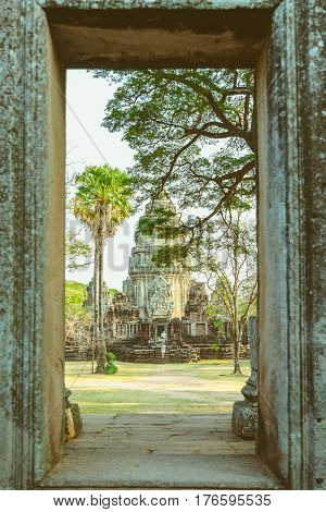 Khmer temples of Thailand in Phimai Historical Park, Nakhon Ratchasima province.