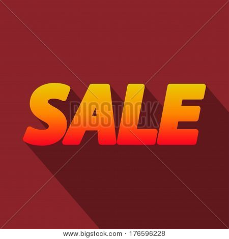 Bright colored word Sale in flat style