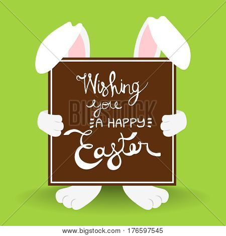 Happy Easter Rabbit Quote Greeting Card